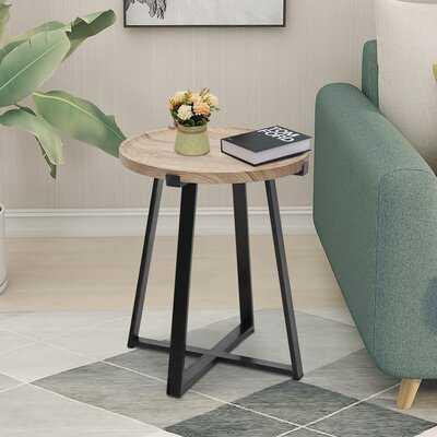 Dyanni Tray Top Cross Legs End Table - Wayfair