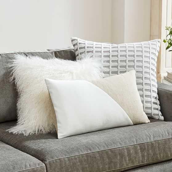 Color Crush Pillow Set - Stone White - West Elm