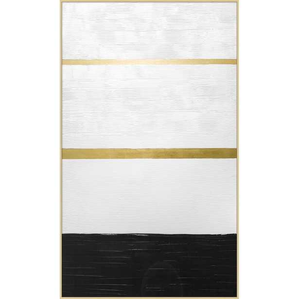 Providence Art 'Black and Gold 2' - Floater Frame Print on Canvas - Perigold