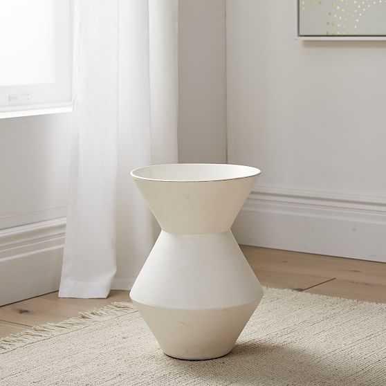 Thom Textured Floor Vase, White, Wide - West Elm