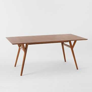 """Mid-Century Expandable Dining Table, 60-80"""", Walnut - West Elm"""