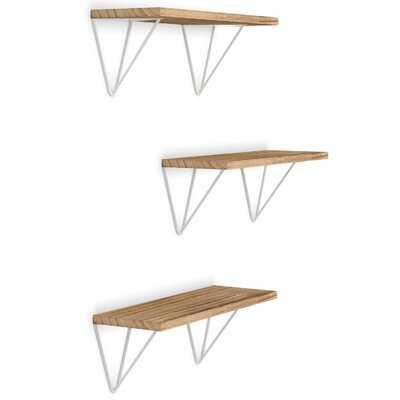 Chellsey 3 Piece Paulownia Solid Wood Bracket Shelf - Wayfair