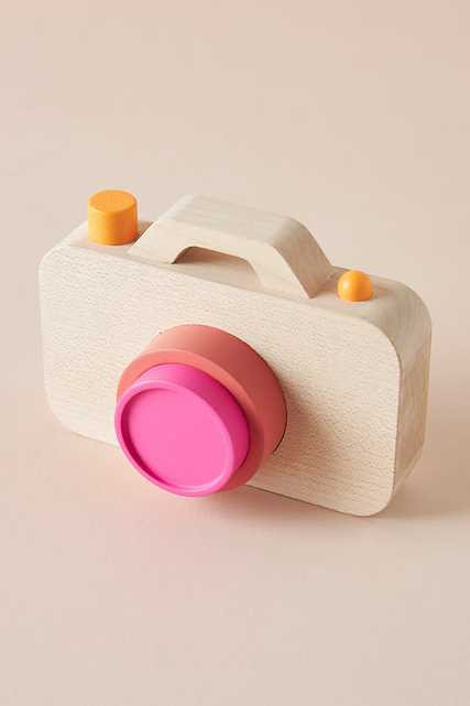 Wooden Camera Toy By Anthropologie in Beige - Anthropologie