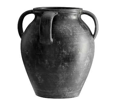 Joshua Vase, Black, Large - Pottery Barn
