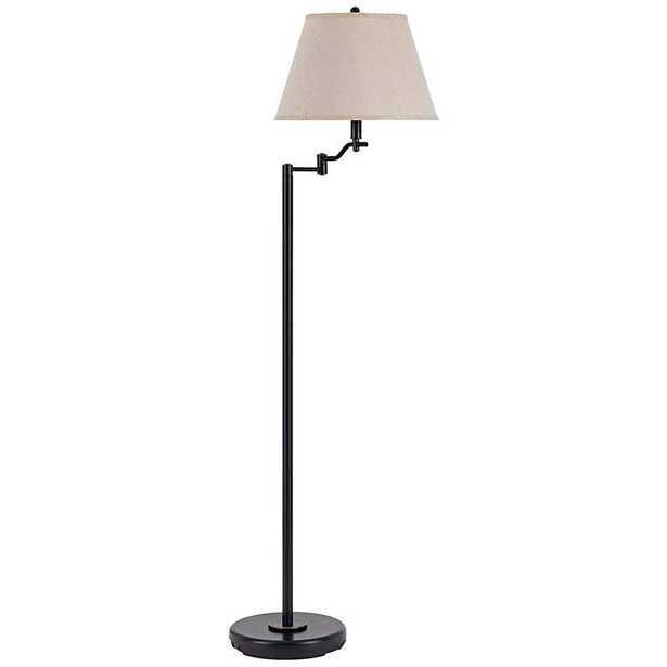 Stila Swing Arm Floor Lamp, Dark Bronze - Lamps Plus