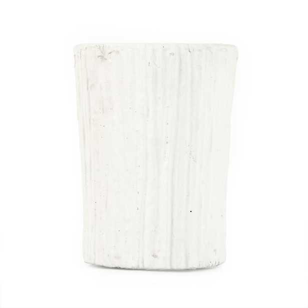 Zentique Distressed White Small Decorative Vase - Home Depot