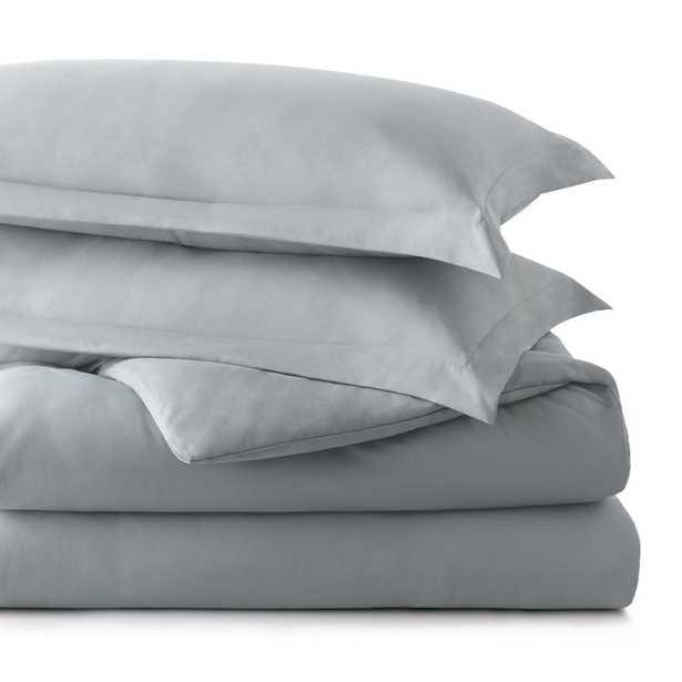 Brookside Microfiber Duvet Cover, Stone, King, Grey - Home Depot