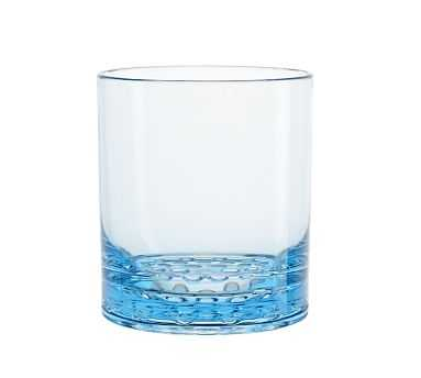 Happy Hour Double Old Fashioned, Each - Aqua - Pottery Barn