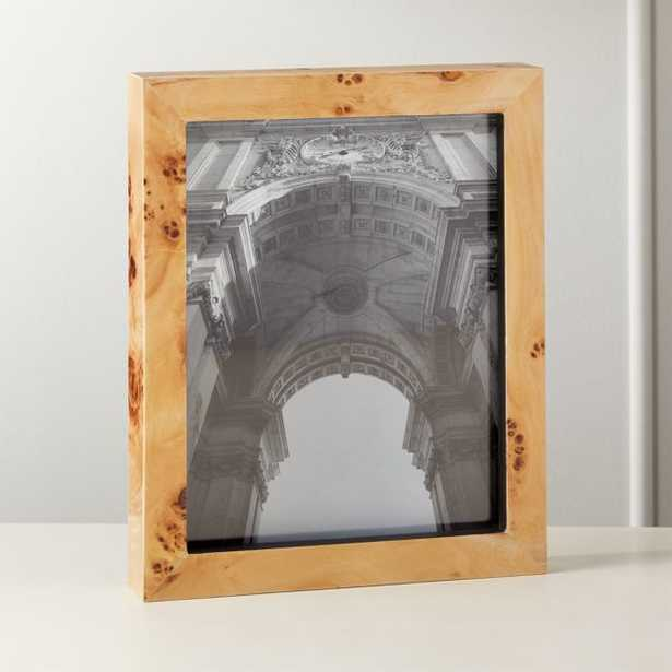 """Burl Wood Picture Frame 8""""x10"""" - CB2"""