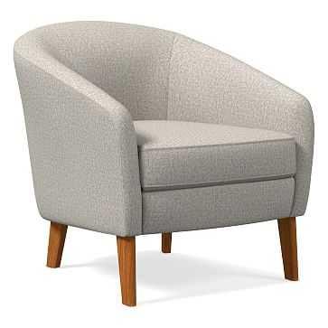 Jonah Chair, Twill, Stone, Pecan - West Elm