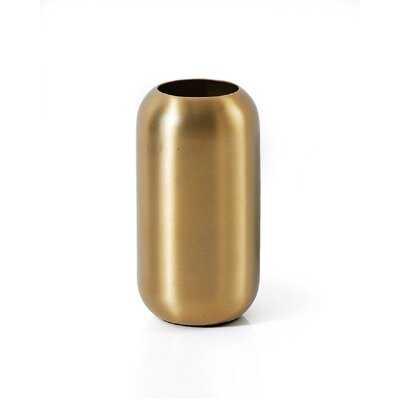 Pilsbury Gold Indoor / Outdoor Metal Table Vase - Wayfair