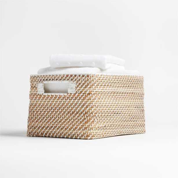 Sedona Small White Tote - Crate and Barrel