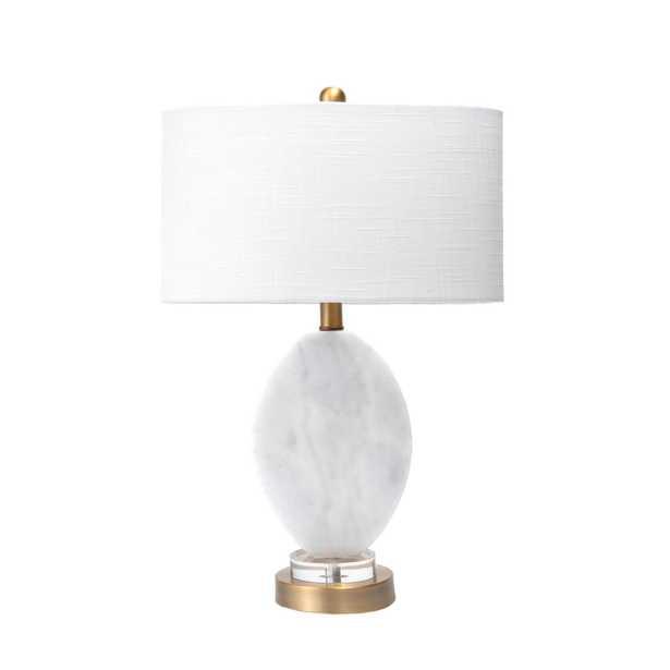 """Fulton Marble Table Lamp, 22"""" - Loom 23"""