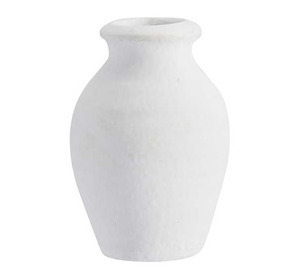 Urbana Ceramic Bud Vases, White - Vase - Pottery Barn