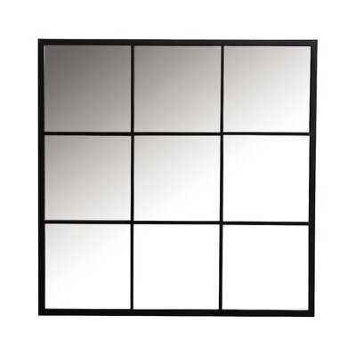 Square Window Pane Wall Mirror Black - Wayfair