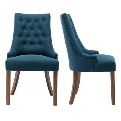 Aristocratic Style Dining Chair Noble And Elegant Solid Wood Tufted Dining Chair Dining Room Set (Set Of 2) - Wayfair