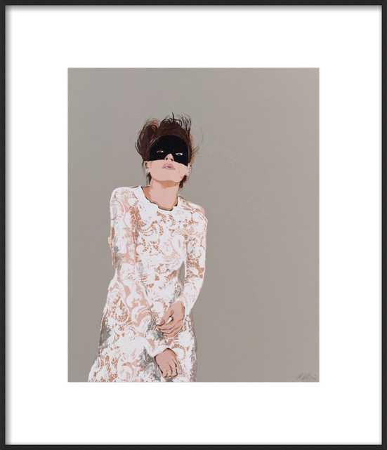 Woman in Mask by Anna Ullman for Artfully Walls - Artfully Walls