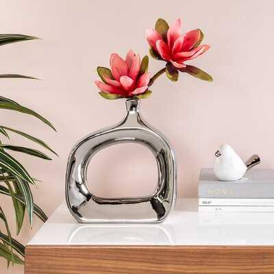 """Orlando 11"""" Open Wide Indoor / Outdoor Ceramic Table Vase - Wayfair"""