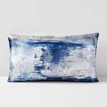 """Abstract Haze Brocade Pillow Case, 12""""x21"""" - West Elm"""