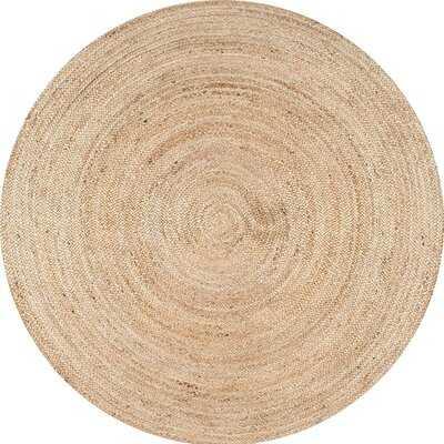 Round Hand Braided Jute/Sisal Beige Indoor / Outdoor Area Rug - Wayfair