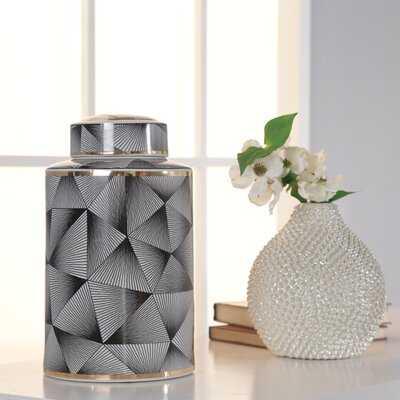 Cecillia Black Indoor / Outdoor Ceramic Jar - Wayfair