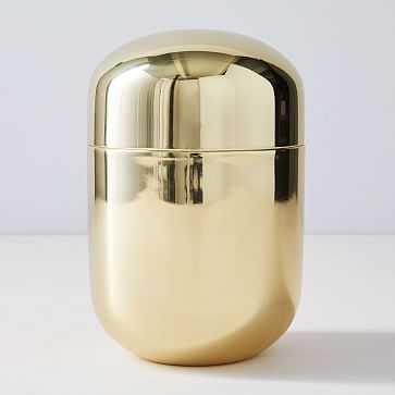 Polished Brass Vanity Box, Large - West Elm
