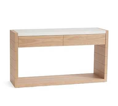 Pacific Marble Console Table, Natural Oak - Pottery Barn