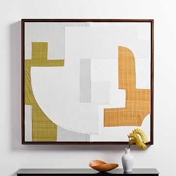 Pieced Fabric Wall Art, Dijon - West Elm