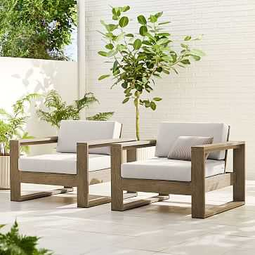 Portside Outdoor Lounge Chair, Driftwood, Set of 2 - West Elm