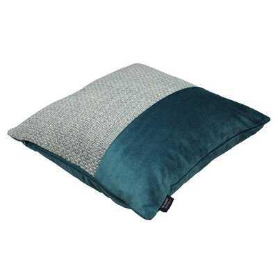 Harris Border Square Velvet Pillow Cover - Wayfair