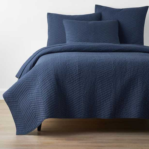 Company Navy (Blue) Cotton King Quilt - Home Depot