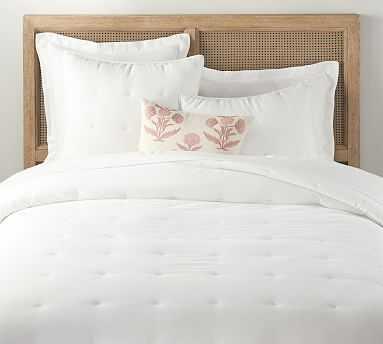 Belgian Flax Linen Comforter, King/Cal King, White - Pottery Barn