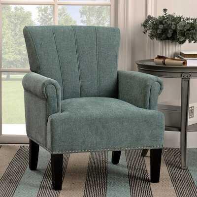 Accent Rivet Tufted Polyester Armchair ,Mint Green - Wayfair