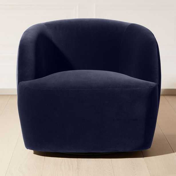 Gwyneth Navy Velvet Chair - CB2