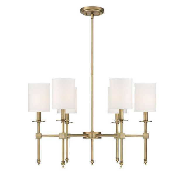Filament Design 6-Light Warm Brass Chandelier - Home Depot