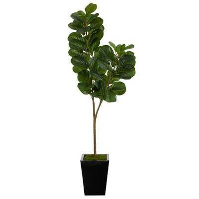 Artificial Fiddle Leaf Fig Tree in Planter - Wayfair