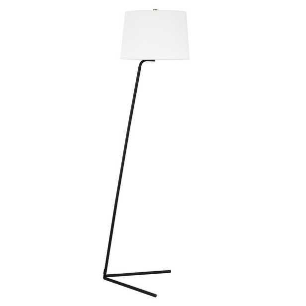 Hudson&Canal Markos Tilted floor lamp in Blackened Bronze - Home Depot