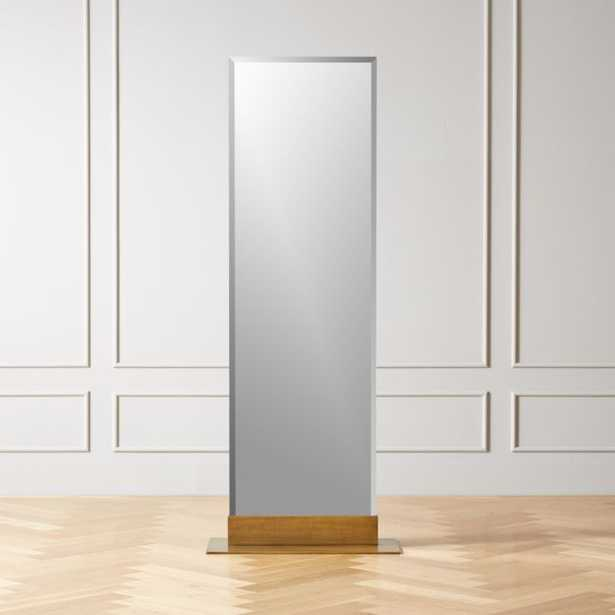 Palisade Brass Frameless Floor Mirror - CB2
