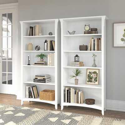 "Salinas 62.95"" H x 31.72"" W Standard Bookcase - Wayfair"