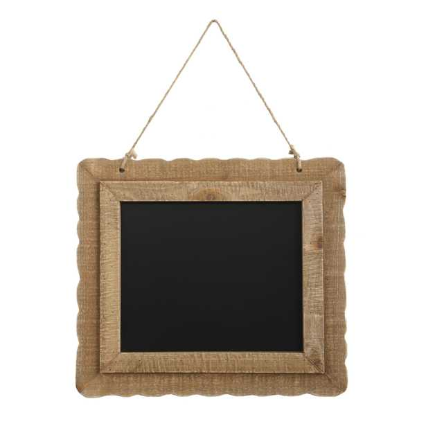 Hanging Blackboard with Decorative Wood Frame - Nomad Home