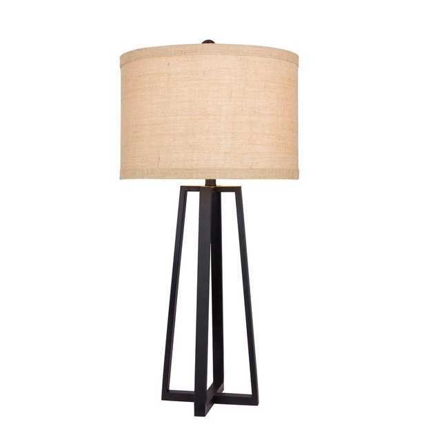 Fangio Lighting 33 in. Black Molded Metal Table Lamp - Home Depot