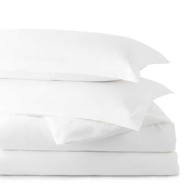 Brookside Microfiber Duvet Cover, White, Full - Home Depot