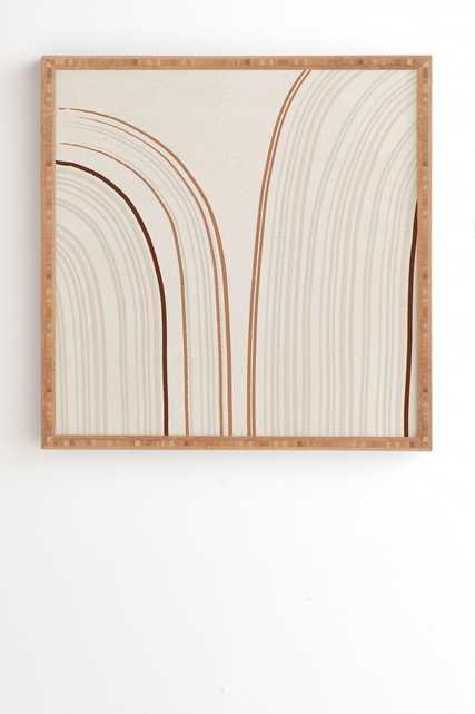 "Iveta Abolina Mid Century Line Art IX Framed Wall Art - 30"" x 30"" - Wander Print Co."