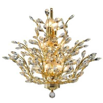 Safiya 15 - Light Candle Style Empire Chandelier with Crystal Accents - Wayfair