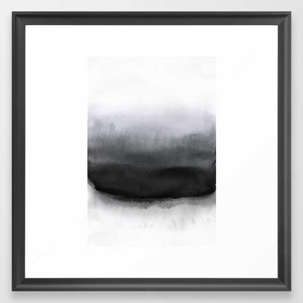 P Black Framed Art Print by Georgiana Paraschiv - Scoop Black - MEDIUM (Gallery)-22x22 - Society6