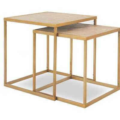 Schiffer 2 Piece Nesting Tables - Wayfair