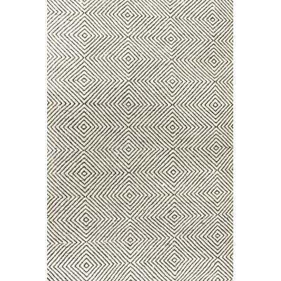 Marcelo Geometric Handmade Tufted Ivory Area Rug - Wayfair
