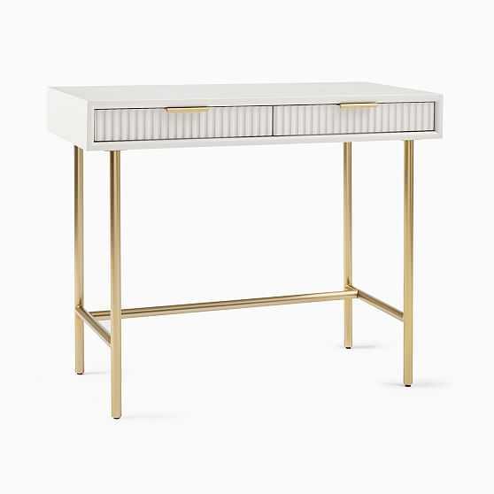 We Quinn Collection Haze/Antique Brass Mini Desk - West Elm