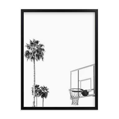Hoops and Palms Framed Art by Minted(R), Black, 18x24 - Pottery Barn Teen