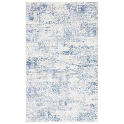 Grandview Abstract Blue Area Rug - Wayfair